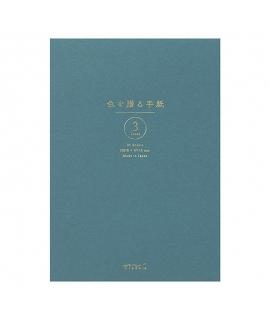 日本進口 MIDORI 色を贈る手紙系列 A5信紙本 - 青色 ( 20569-006 ),横罫