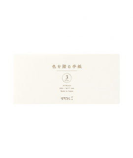 日本進口 MIDORI 色を贈る手紙系列 一筆箋 - 白色 ( 89512-006 )