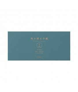 日本進口 MIDORI 色を贈る手紙系列 一筆箋 - 青色 ( 89513-006 )