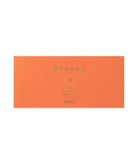 日本進口 MIDORI 色を贈る手紙系列 一筆箋 - 茶色 ( 89514-006 )