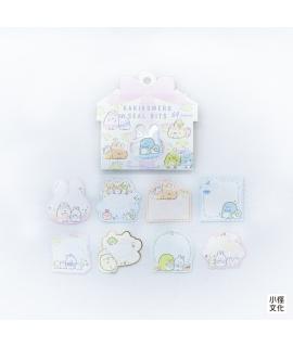 日本進口 San-X 角落生物 可書寫貼紙包 - 兔兔耳朵 ( SE50204 ),箔押