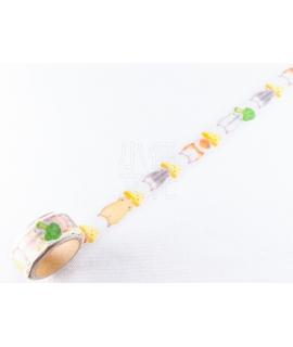 日本進口 MIND WAVE型拔和紙膠帶 美味時間系列 - 倉鼠 ( 94391 )