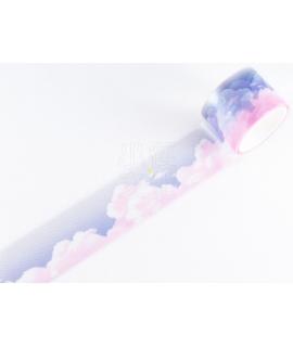 日本進口 MIND WAVE Clear Tape PET透明霧面膠帶 - 暮色雲彩 ( 95059 )