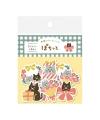 古川紙工 Wa-Life 2021 冬季限定 和紙貼紙包 - 花與貓咪 ( QSA110 )