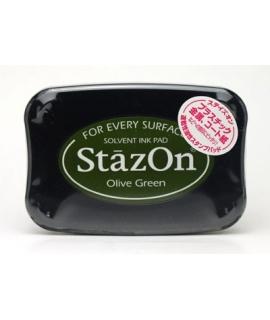 日本進口 StazOn 油性速乾性印台 - Olive Green ( SZ-51 )